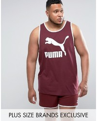 Puma Plus Jersey Tank In Red To Asos