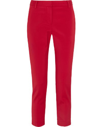 Tibi Beatle Cropped Stretch Faille Tapered Pants Us4