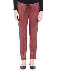 Christopher Kane Drawstring Waist Pants Red
