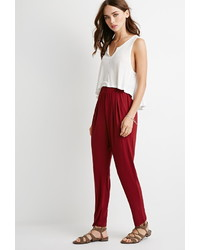 Forever 21 Pleat Front Tapered Pants