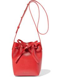Mansur Gavriel Mini Mini Textured Leather Bucket Bag