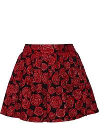 Alice + Olivia Fizer Floral Jacquard Mini Skirt