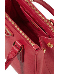 fc121b91c2dc75 Prada Galleria Baby Textured Leather Tote, $1,350 | NET-A-PORTER.COM ...
