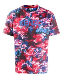 Red Tie-Dye Crew-neck T-shirt