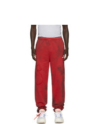 Off-White Red Tie Dye Lounge Pants