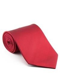 Platinum Ties Smooth Red Tonal Stripe Neck Tie