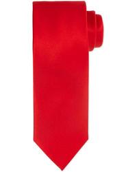 Solid silk satin tie red medium 244222