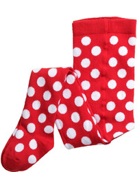H&M Polka Dot Tights Red Kids