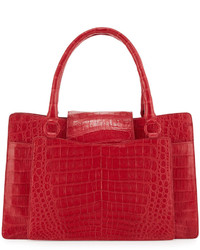 Nancy Gonzalez Medium Crocodile Tote Bag Red