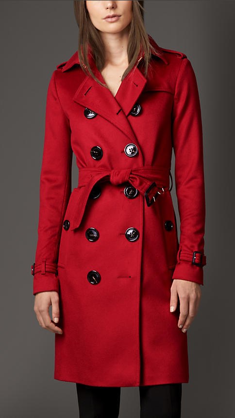 256ef1c57fc1 ... Red Trenchcoats Burberry Cashmere Trench Coat ...