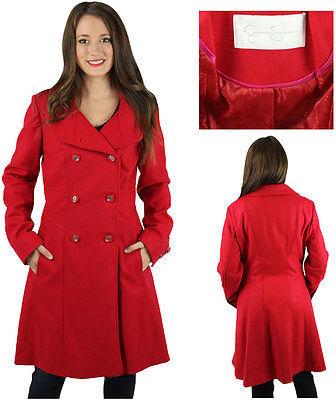 200 Jessica Simpson Knee Length Wool Trench Pea Coat