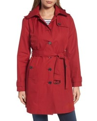 Michl michl kors core trench coat with removable hood liner medium 5260052