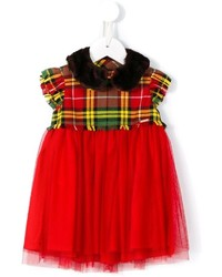 Junior Gaultier Tartan And Tulle Dress