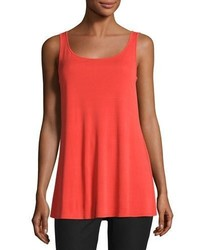 Jersey sleeveless scoop neck tunic poppy plus size medium 783380
