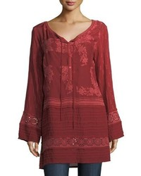 Leafly tiered popover tunic plus size medium 5207845