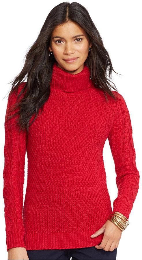 Lauren Ralph Lauren Cable Knit Turtleneck Sweater | Where to buy ...