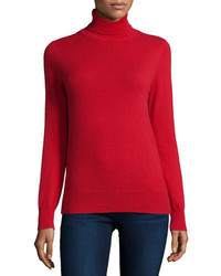 Cashmere collection classic long sleeve cashmere turtleneck medium 846691