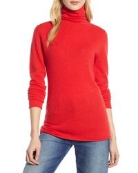 Halogen Funnel Neck Cashmere Sweater