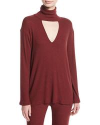 Rachel Pally Marla Ribbed Cutout Turtleneck Sweater