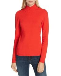 DVF Mock Neck Back Cutout Sweater