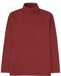 Uniqlo Soft Touch Turtleneck Long Sleeve T Shirt