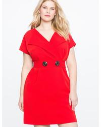7be59275ee ... ELOQUII Cap Sleeve Faux Wrap Dress