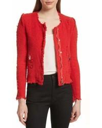 Agnette tweed jacket medium 7012293