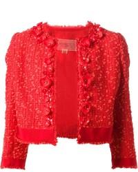 Tweed floral jacket medium 283478