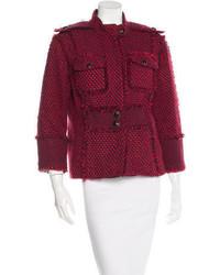 Tory Burch Tweed Long Sleeve Jacket