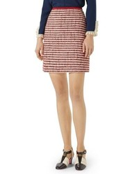 Gucci Stripe Tweed A Line Skirt