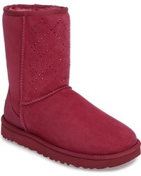 Ugg classic short crystal genuine shearling lined boot medium 951176