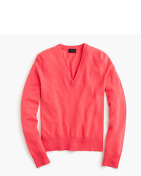 J.Crew Italian Cashmere Easy V Neck Sweater