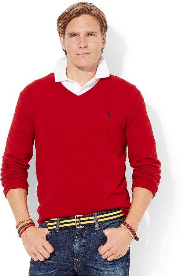 ... Polo Ralph Lauren Loryelle Merino Wool V Neck Sweater ...