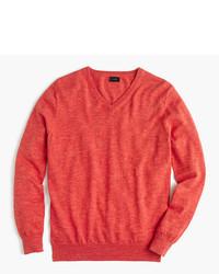 Slim rugged cotton v neck sweater medium 790115