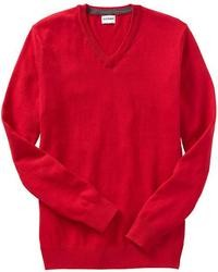 Old Navy Solid V Neck Sweaters