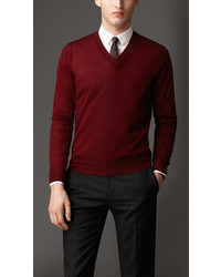 Burberry V Neck Cashmere Sweater | Where to buy & how to wear