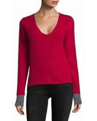 Zadig & Voltaire V Neck Cashmere Sweater