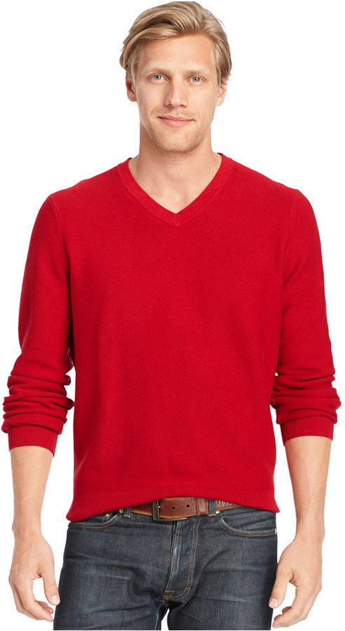Izod V Neck Fine Gauge Sweater | Where to buy & how to wear