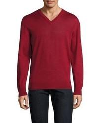 Luciano Barbera V Neck Wool Sweater