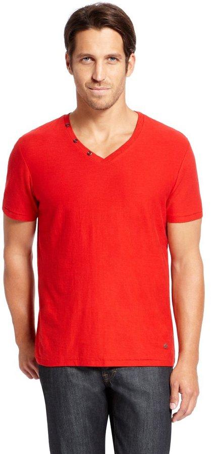 Red V Neck T Shirt Boss Orange Terrific Cotton V Neck T