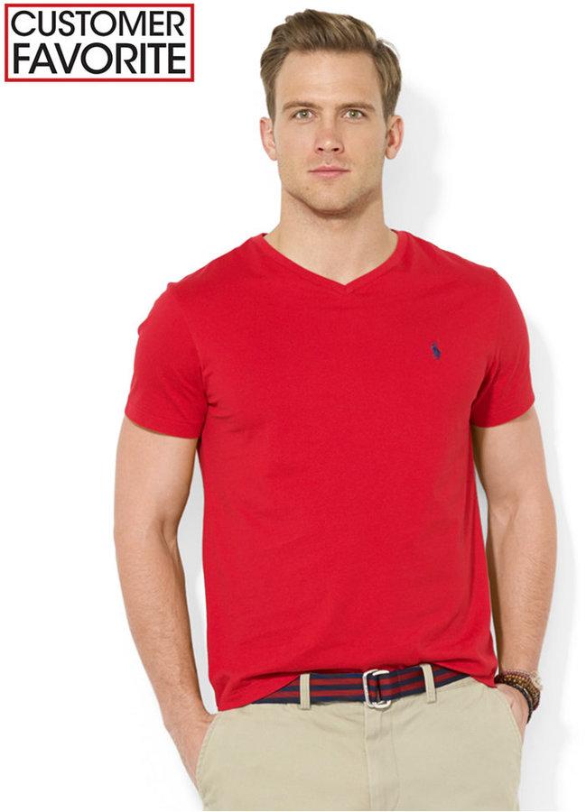 523f9cd91 ... Polo Ralph Lauren Core Medium Fit V Neck Cotton Jersey T Shirt ...