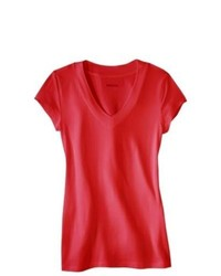 Hansae Fashion Worldwide Favorite V Tee Wowzer Red L