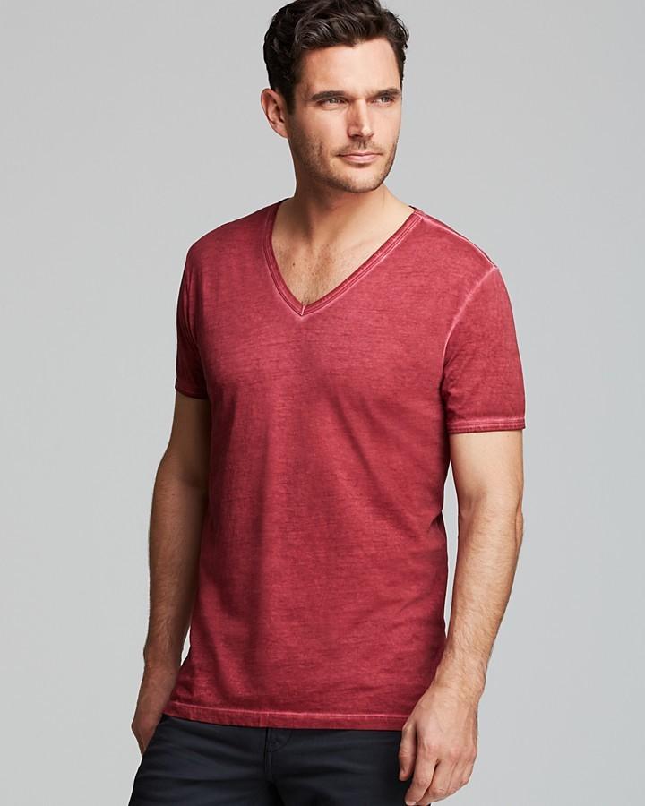 Red V Neck T Shirt Hugo Boss Boss Orange Toulouse V Neck