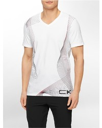 33997ab0a ... Calvin Klein Performance Slim Fit Gradient Print V Neck T Shirt ...