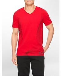 Calvin Klein Performance Slim Fit Gradient Print V Neck T Shirt