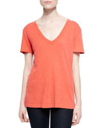 Rag and Bone Rag Bonejean The Classic V Neck Slub Tee