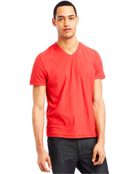 Kenneth Cole Reaction Slub V Neck T Shirt