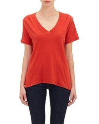 Current/Elliott The V Neck T Shirt Red