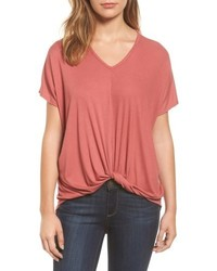 Twist front v neck tee medium 4952352