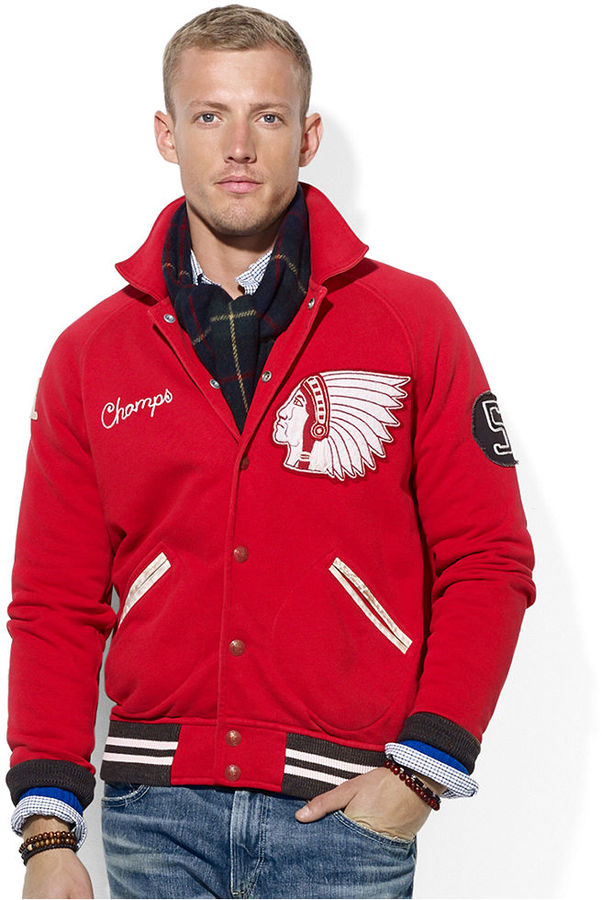 Polo Ralph Lauren Fleece Baseball Jacket | Where to buy & how to wear